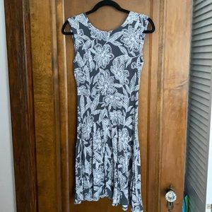 Gray & White Loft Dress